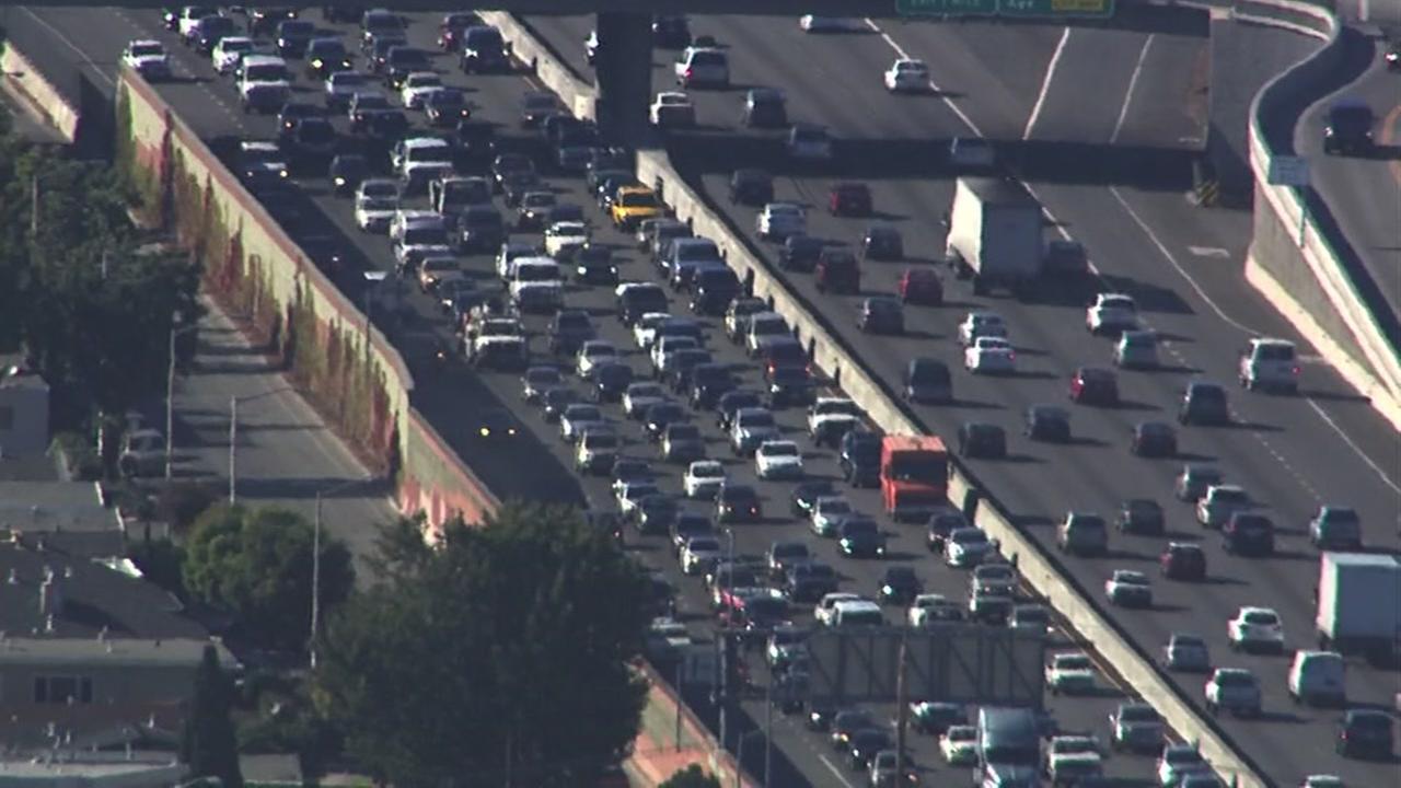 FILE -- Freeway traffic in Bay Area