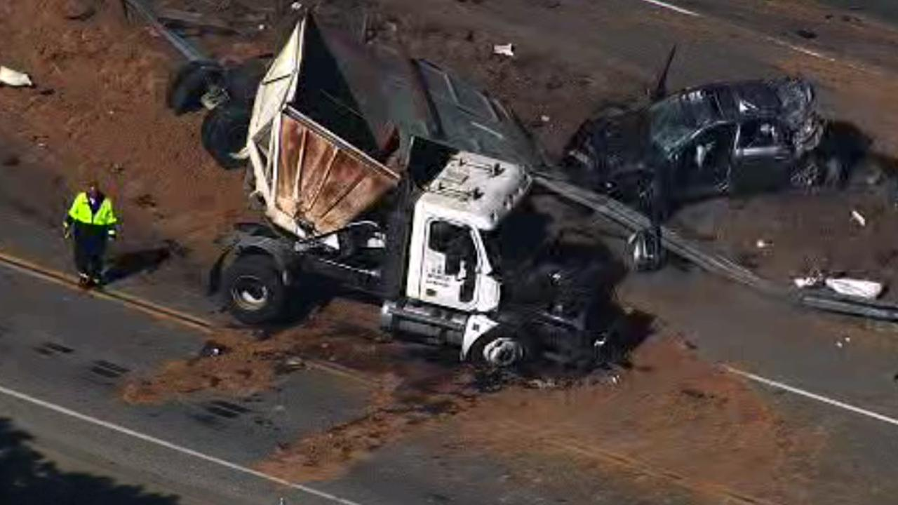Big-rig accident on Hwy 17 in Santa Clara County.
