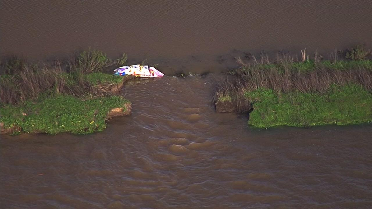 A broken levee caused severe flooding on Highway 37 in Novato, Calif. on Thursday, Feb. 10, 2017.KGO-TV