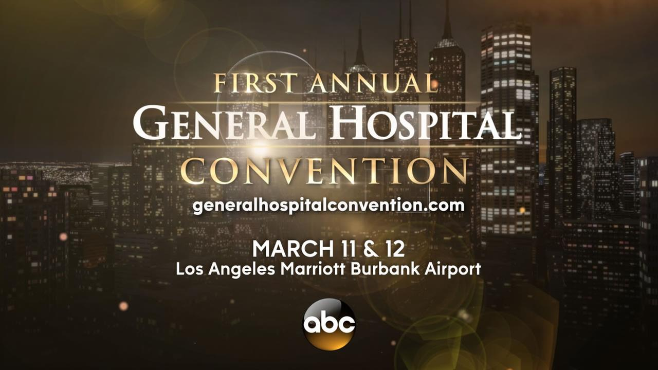 The First Annual General Hospital Convention is taking place on March 11-12 at the Los Angeles Marriott Burbank Airport in Burbank, Calif.