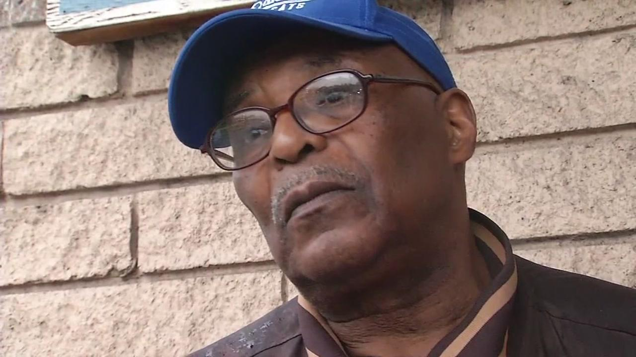 Clifton Simpson is interviewed by ABC7 News after a shooting incident on Feb. 17, 2017 in Oakland, Calif.