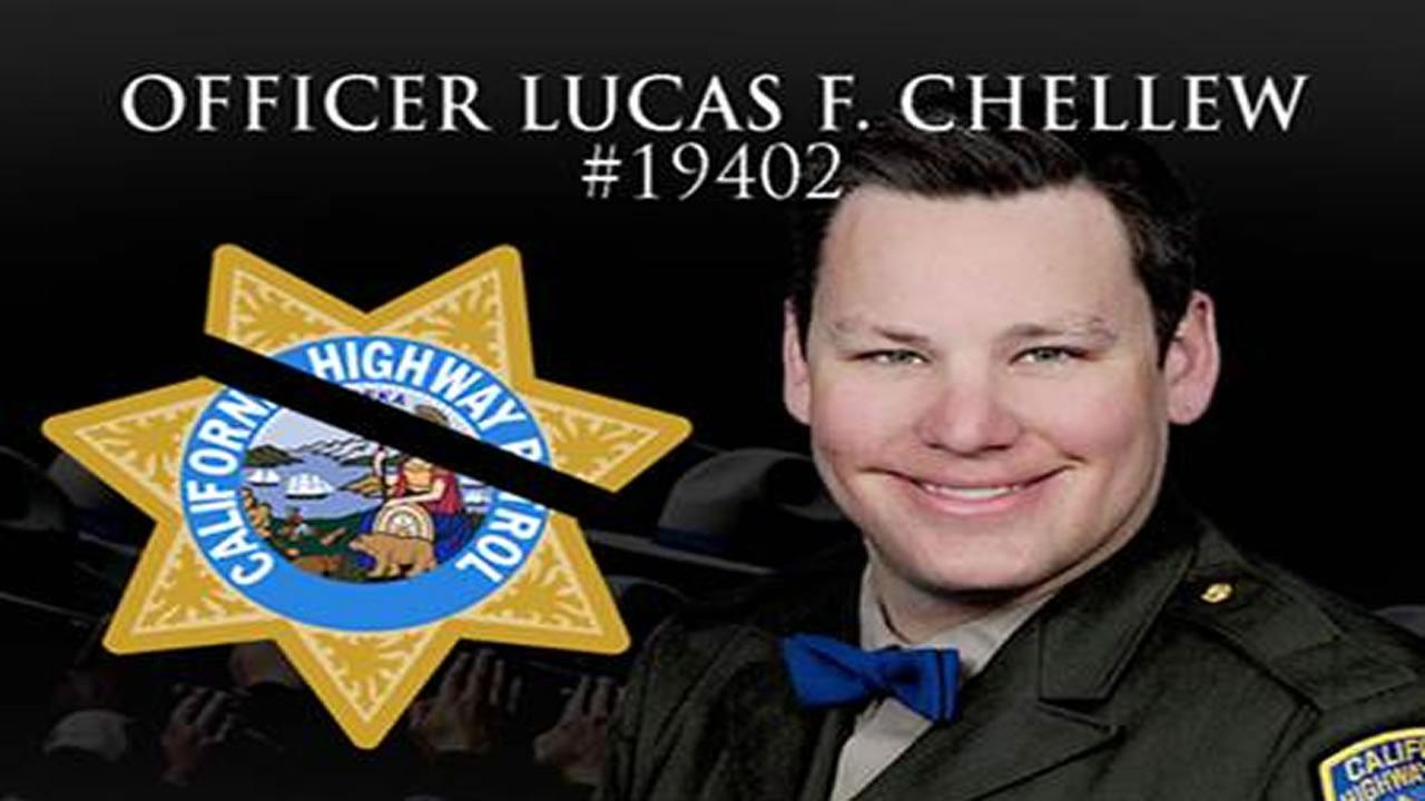 The CHP posted this image of officer Lucas F. Chellew after he passed away on Feb. 22, 2017.