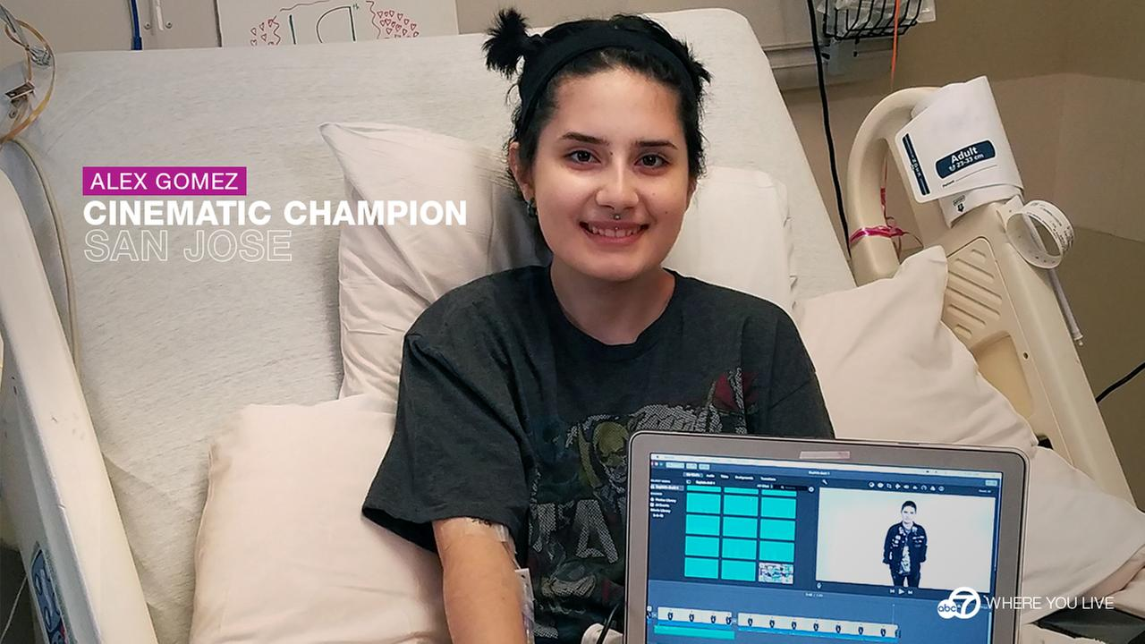 CINEMATIC CHAMPION: Budding filmmaker Alex Gomez struggles with Crohns but she refuses to let it rule her life. Shes learning the art of filmmaking!
