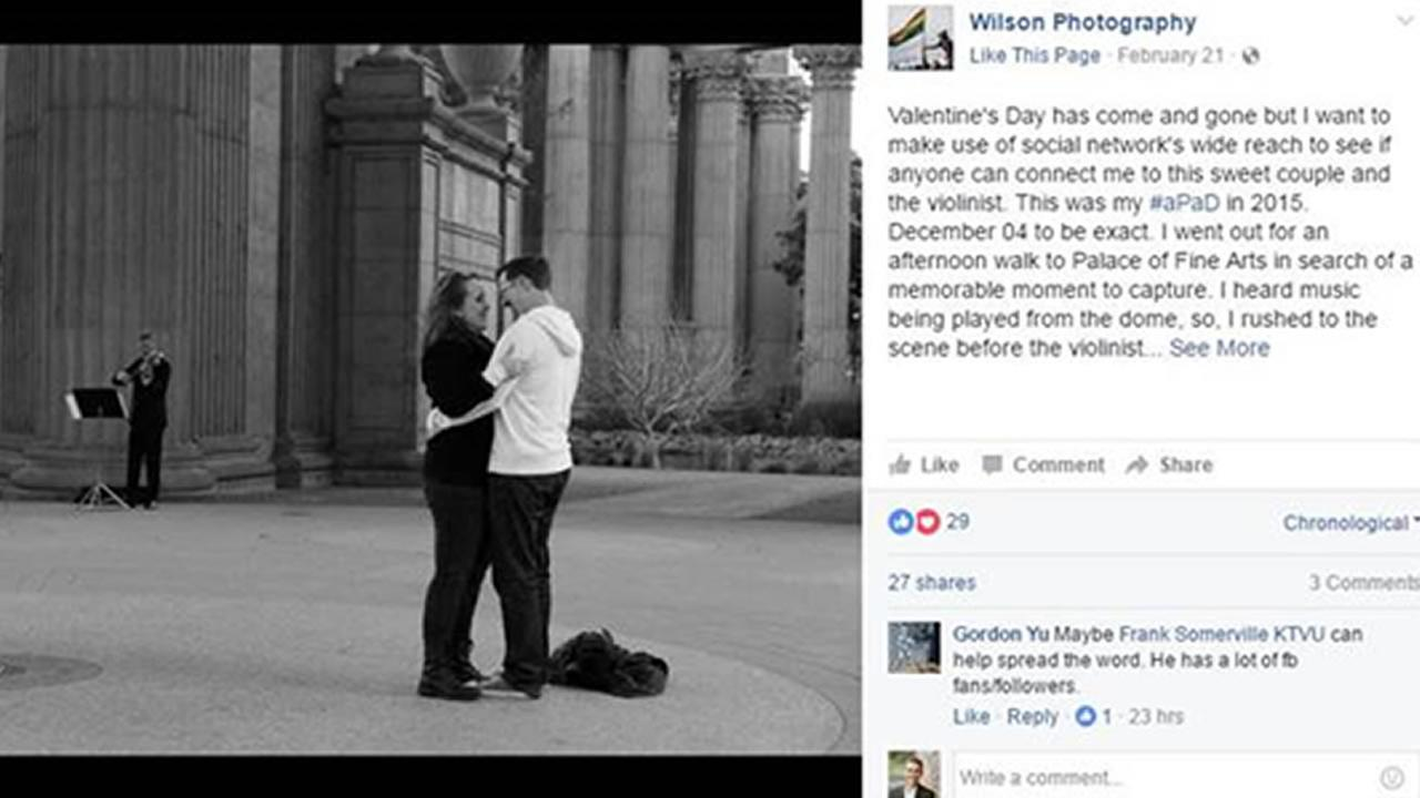 Photographer searches for couple in romantic engagement photo