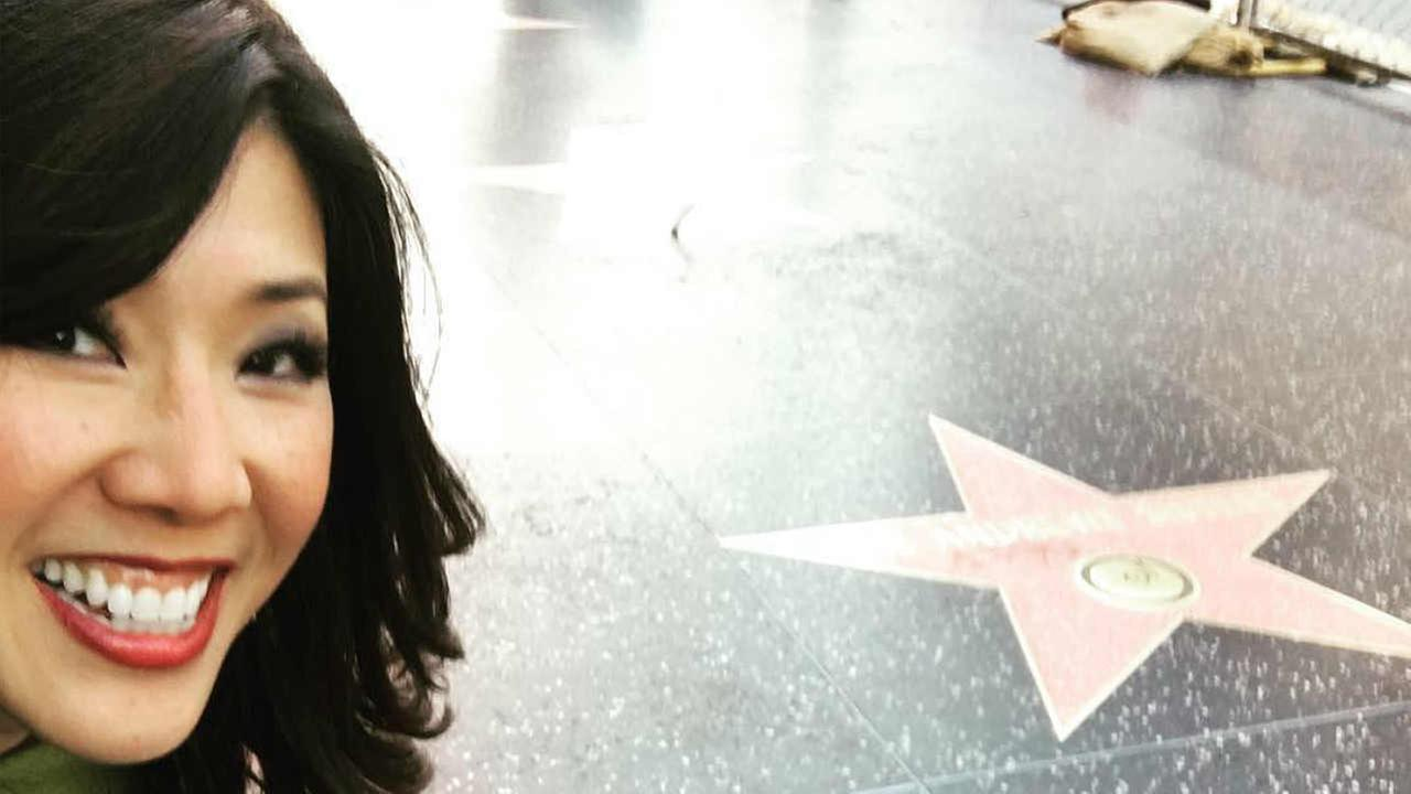 Kristen Sze is seen on the Hollywood Walk of Fame in this undated image.