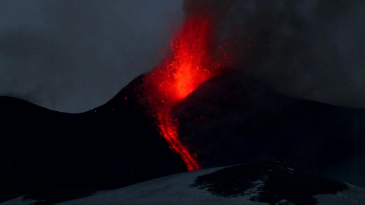 Mt.Etna erupts in Sicily in Feb. 2017.