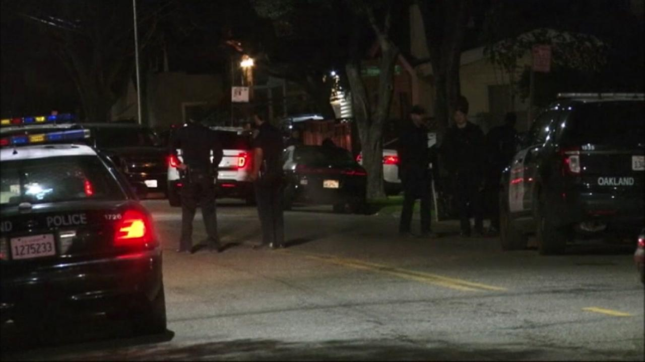 Police search for shooter in Oakland, California, Thursday, March 2, 2017.