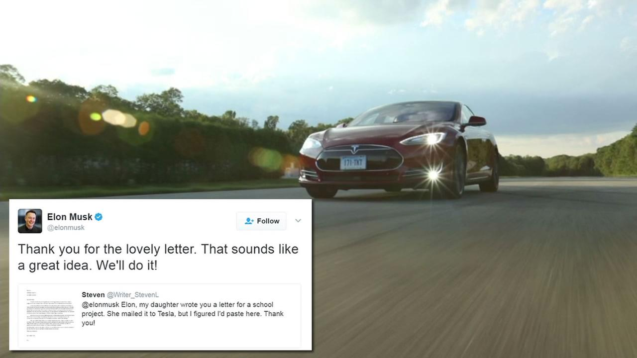 Elon Musk responded to a fifth-graders suggestion to hold a competition for best Tesla commercial.