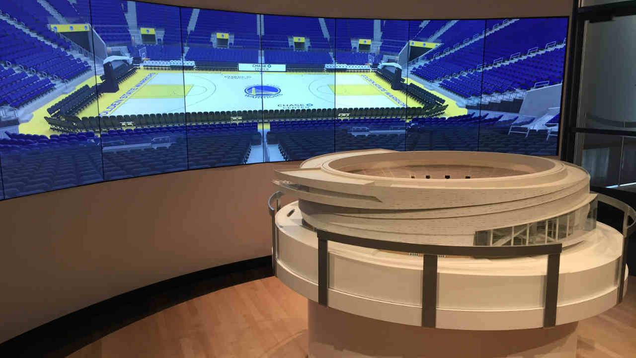The Warriors opened their new Chase Center Experience in the Mission Bay area Tuesday to give fans a virtual look inside the new arena.KGO-TV