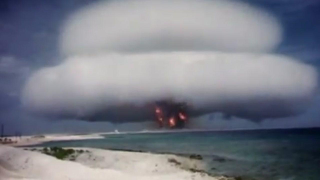 This still image comes from film of a U.S. nuclear weapons test conducted in the 50s and 60s.