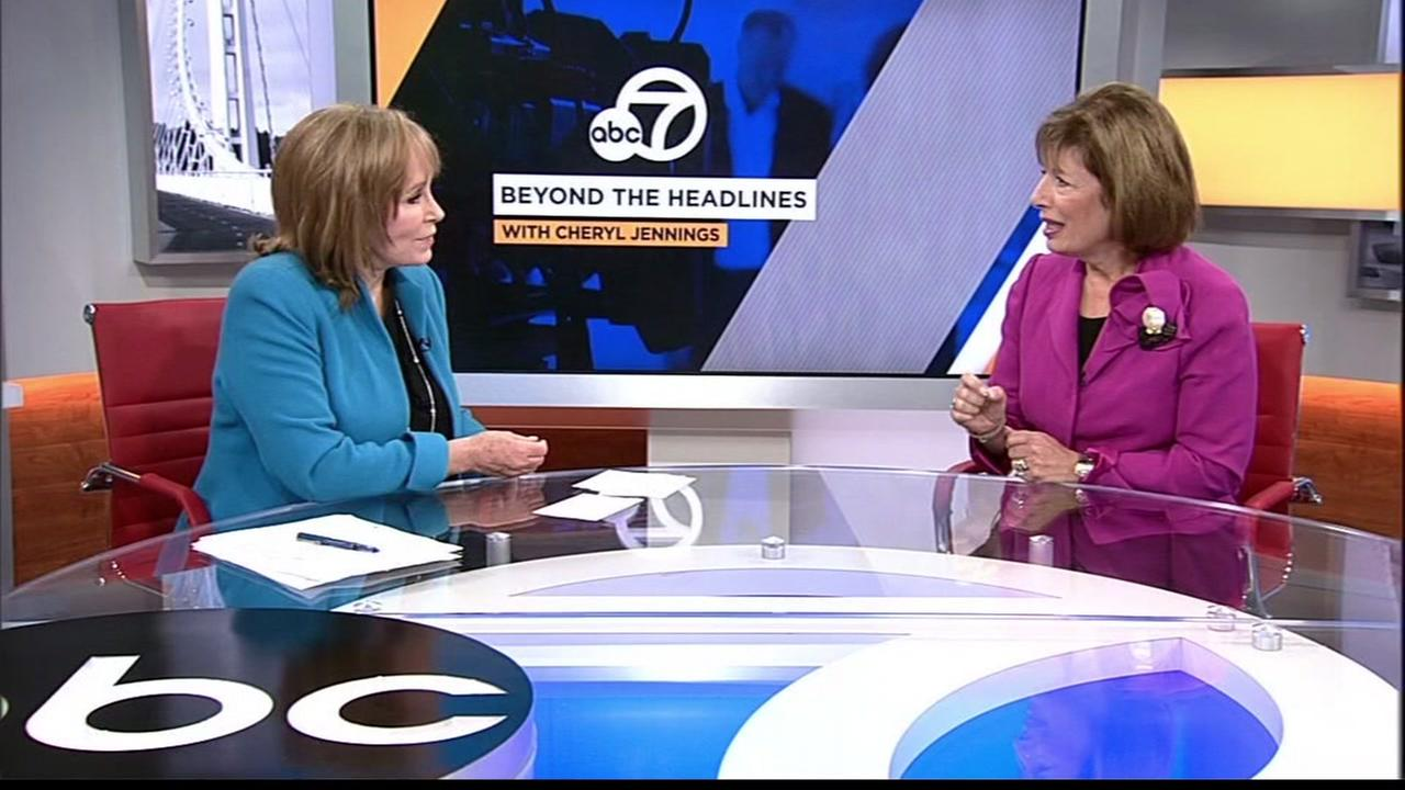 Cheryl Jennings and Congresswoman Jackie Speier are seen at the ABC7 News studio in San Francisco, Calif. in this undated image.
