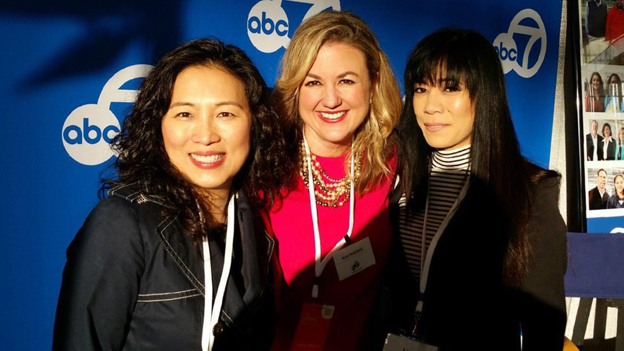 ABC7s Amy Hollyfield with attendees at the Professional Business Women of California Conference in San Francisco on March, 28, 2017.KGO-TV