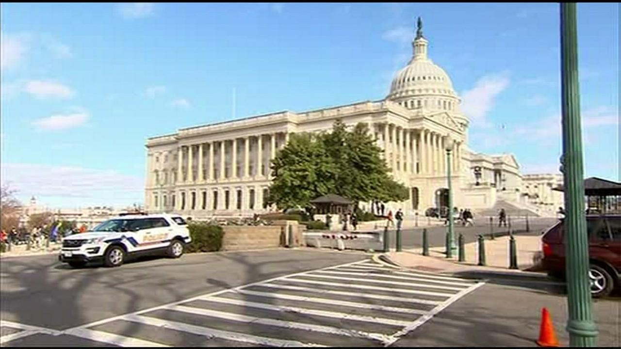 Police: Shots fired near US Capitol, suspect in custody