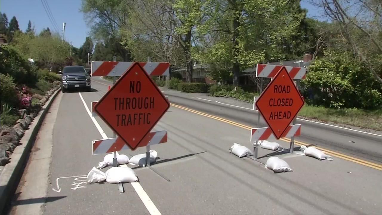 Moraga thoroughfare reopens after landslides closes it for eight months