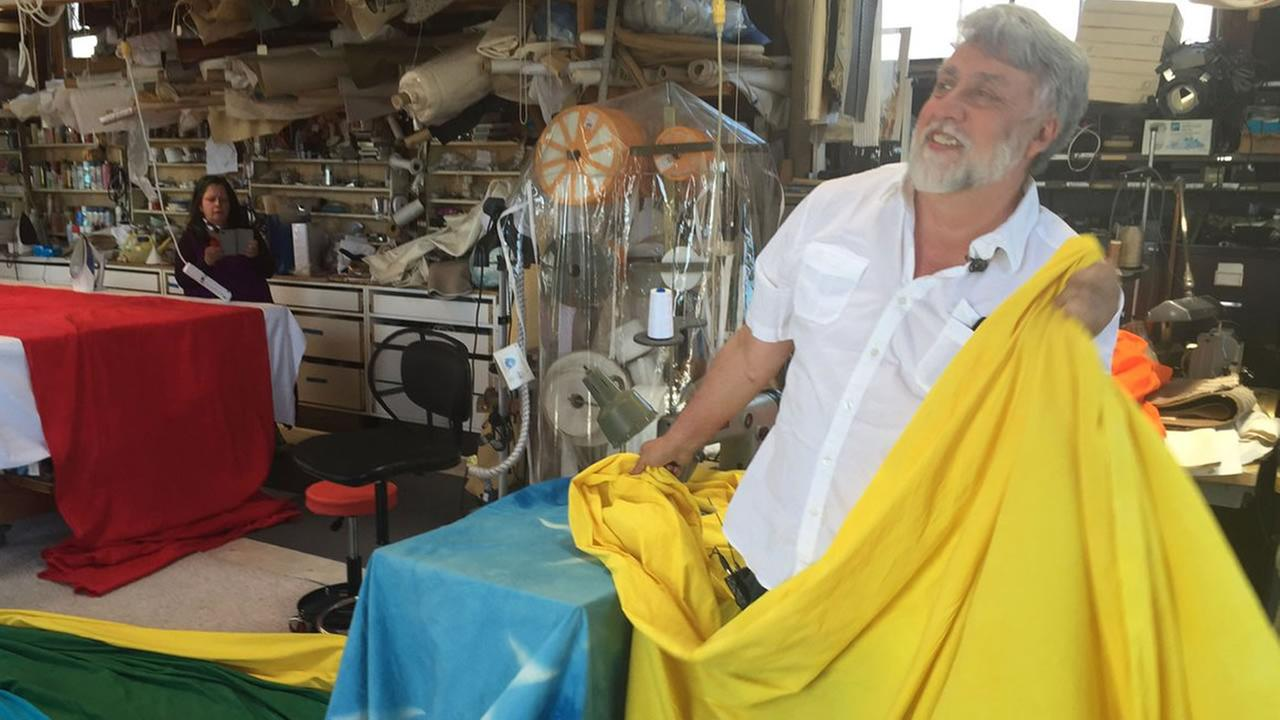 ABC7 News Reporter shared this image of Gilbert Baker, who designed the iconic rainbow flag.