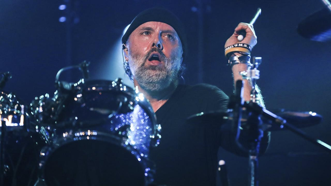 Lars Ulrich of Metallica performs at The Fonda on Thursday, Dec. 15, 2016, in Los Angeles. (Photo by Rich Fury/Invision/AP)