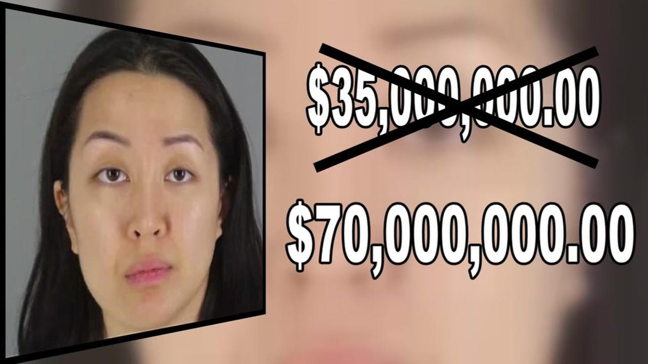 This is an undated graphic showing the amount of money Hillsborough murder suspect Tiffany Li has to post to make bail.