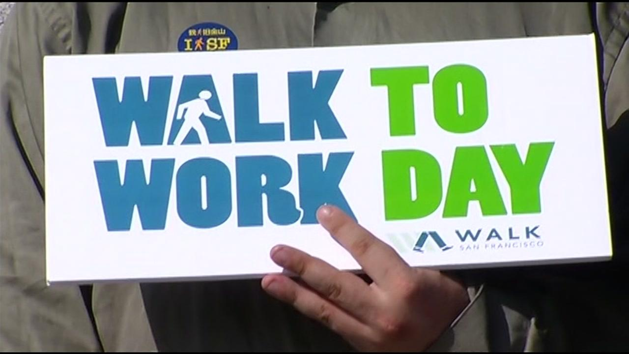 thousands participating in walk to work day in san francisco thousands participating in walk to work day in san francisco