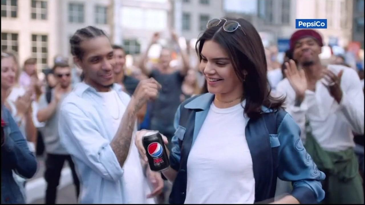 This undated image shows Kendall Jenner in an ad for Pepsi.