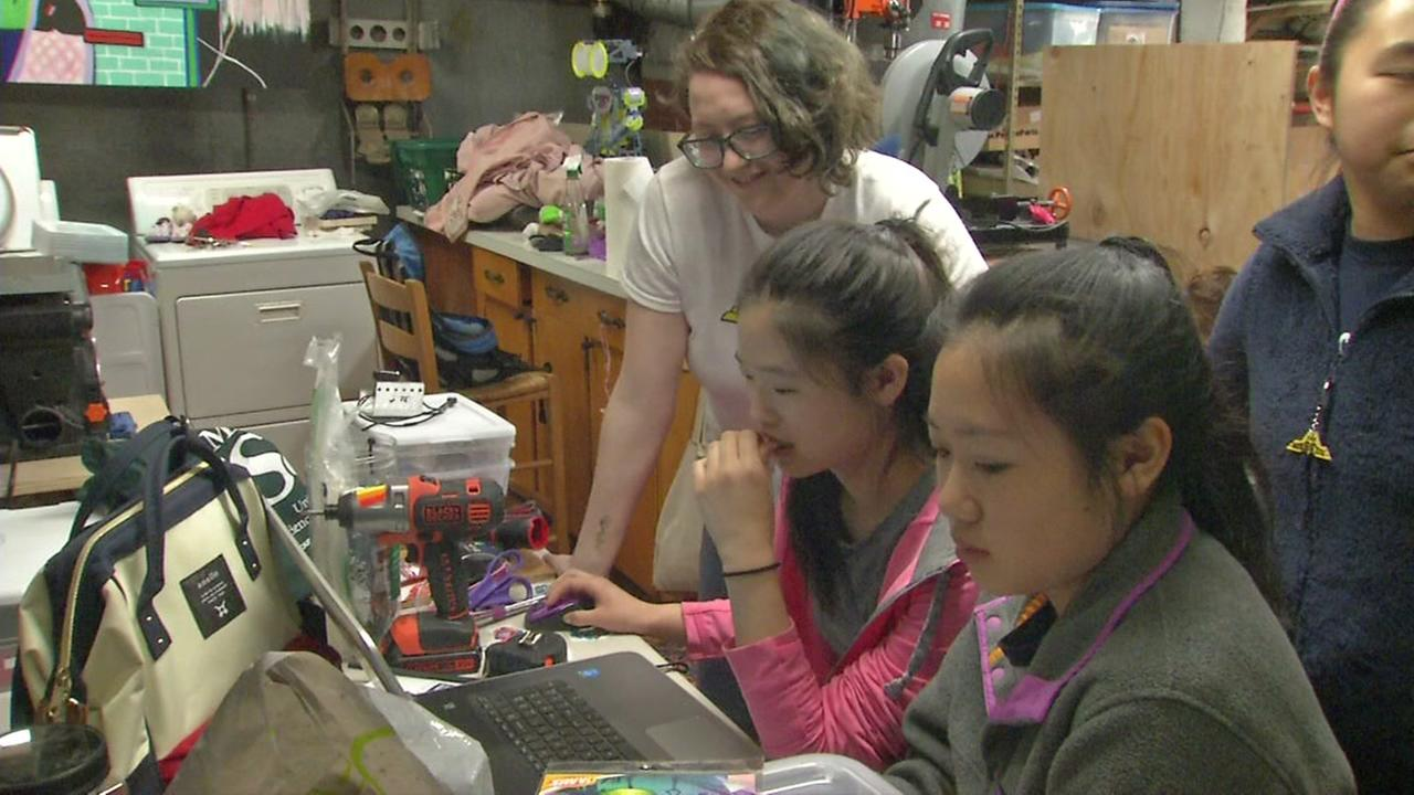 File -- Members of Missfits robotics team in San Francisco, California.