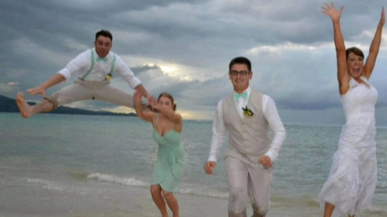 Groomsman wedding photo fail.