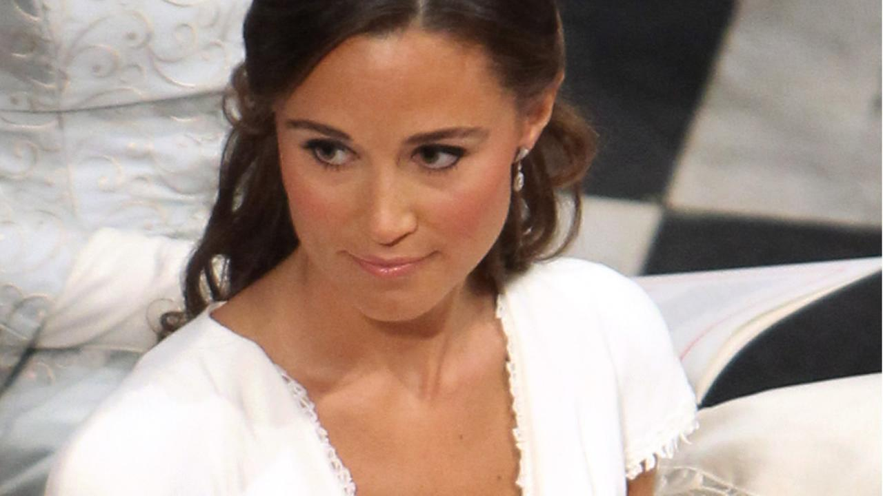 In this April 29, 2011 photo, Pippa Middleton sits in the pews of Westminster Abbey in London during the wedding ceremony of Prince William and Kate Middleton. (AP Photo)