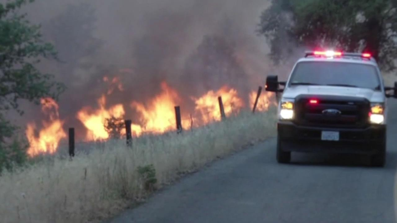 Bully Fire burning in Shasta County