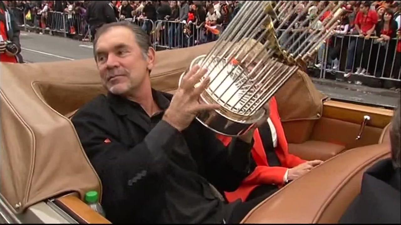 Bruce Bochy appears during the 2014 San Francisco Giants World Series parade in San Francisco, Calif.