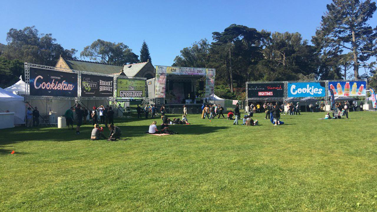 Thousands gather at Golden Gate Park for annual 4/20 celebration, San Francisco, Thursday, April 20, 2017.KGO-TV