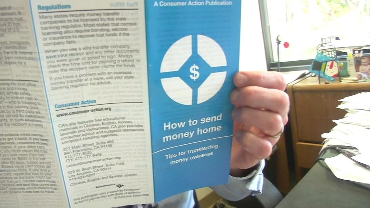 pamphlet on how to send money home