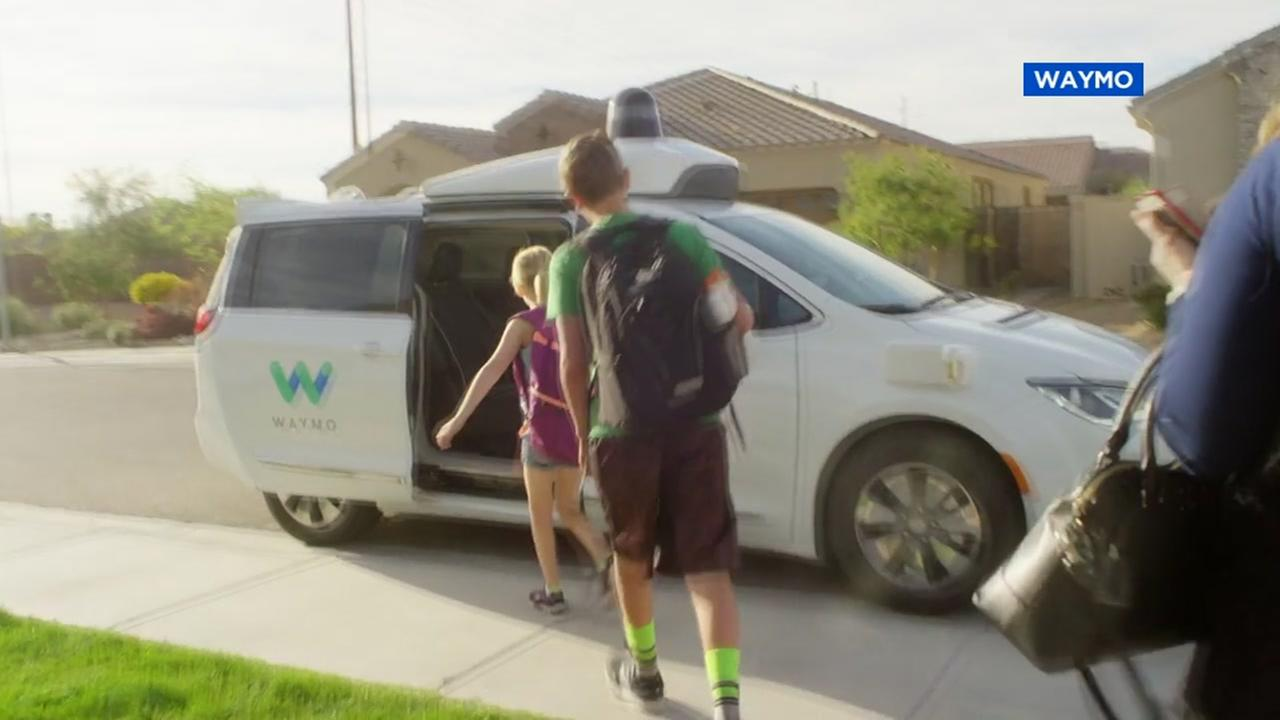 FILE -- Googles Waymo self-driving vehicle
