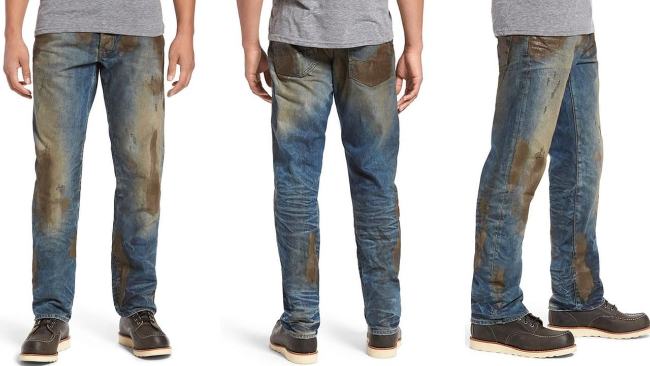 Nordstrom is selling pre-dirtied jeans for $425.