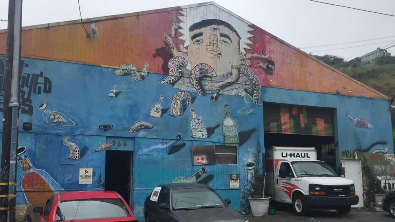 About eight artists who live in a warehouse in the Bernal Heights neighborhood of San Francisco were evicted Wednesday, April 26, 2017.