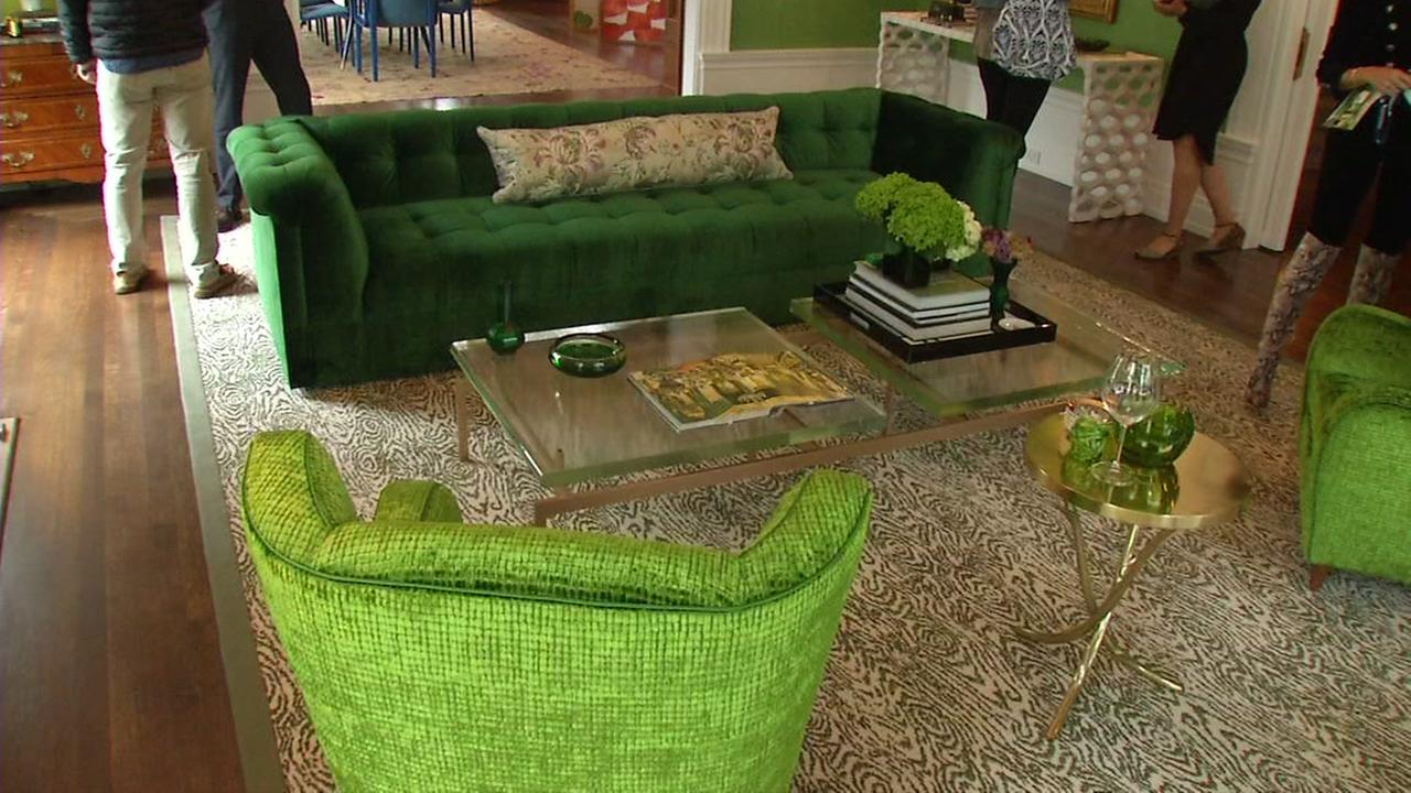A living room was shown at a preview of the San Francisco Designer Showcase in the citys Pacific Heights neighborhood on Wednesday, April 26, 2017.