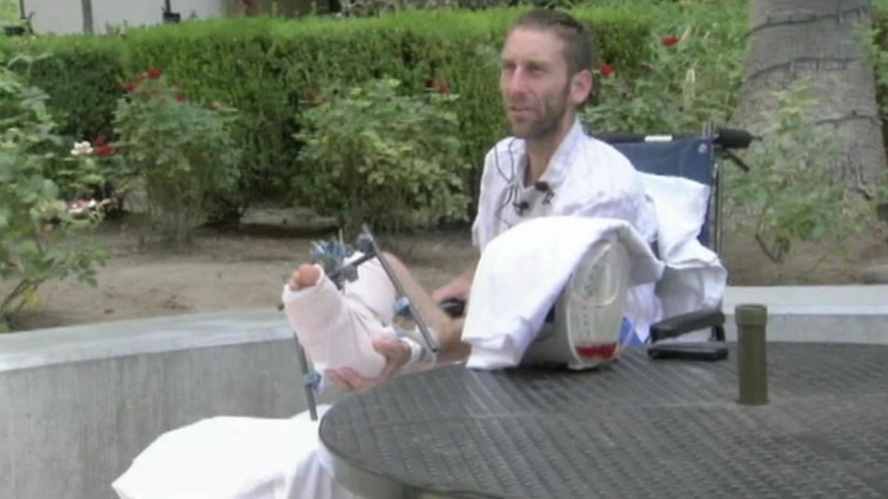 Gregory Hein tells how he survived nearly a week in the wilderness with a broken leg.