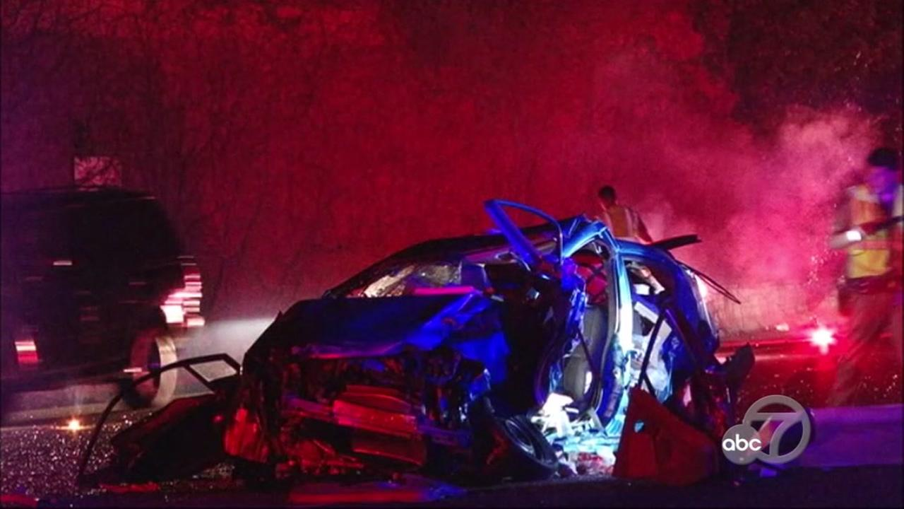 Fatal accident on I-880 in San Leandro, California, Monday, May 1, 2017.