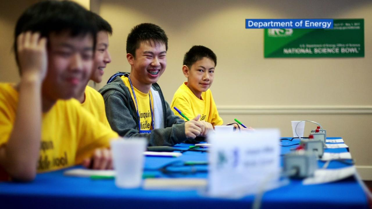 Students from the San Joaquin Middle School in San Jose, Calif. compete in the National Science Bowl in this undated image.