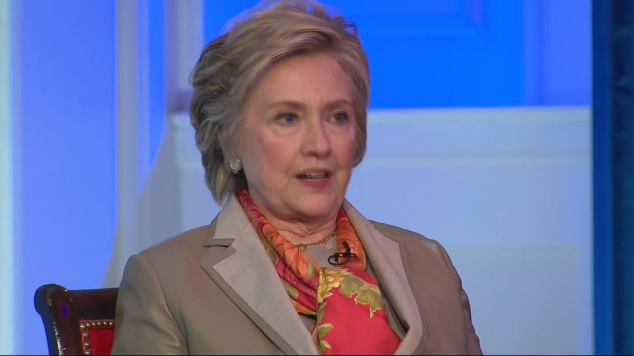Hillary Clinton speaks during an interview with CNNs Christiane Amanpour on Tuesday, May 2, 2017.
