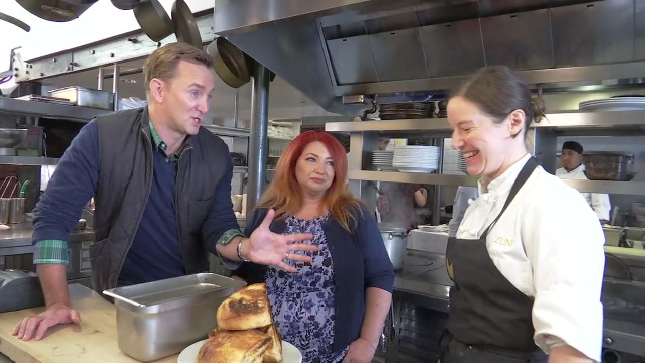 Clinton Kelly and his best friend, Lisa, check out the roasted chicken at Zuni Cafe in San Franciscos Hayes Valley.