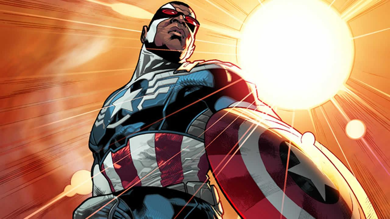 This photo released by Marvel shows superhero Sam The Falcon Wilson. Captain America will be an African-American. (AP Photo/Marvel)
