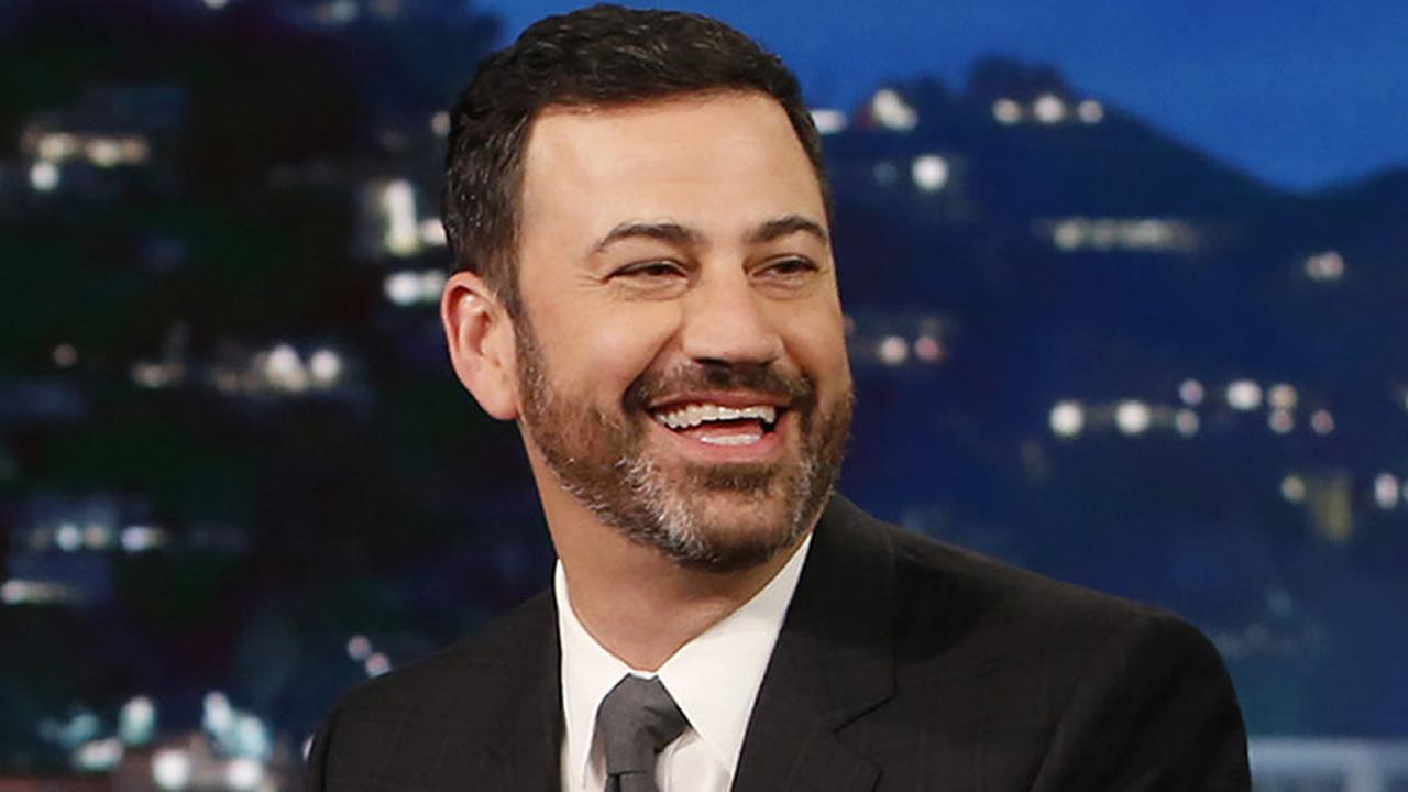 In this Jan. 3, 2017 image released by ABC, host Jimmy Kimmel appears during Jimmy Kimmel Live in Los Angeles. (Randy Holmes/ABC via AP)