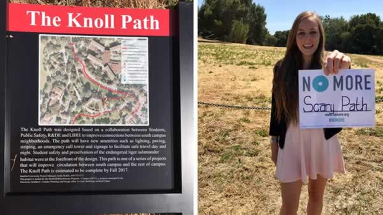Stanford junior Alexis Kallen worked with university administrators to make a path that is safe.