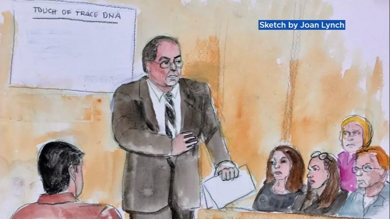 The courtroom for the Antolin Garcia-Torres murder trial is seen in this undated sketch.
