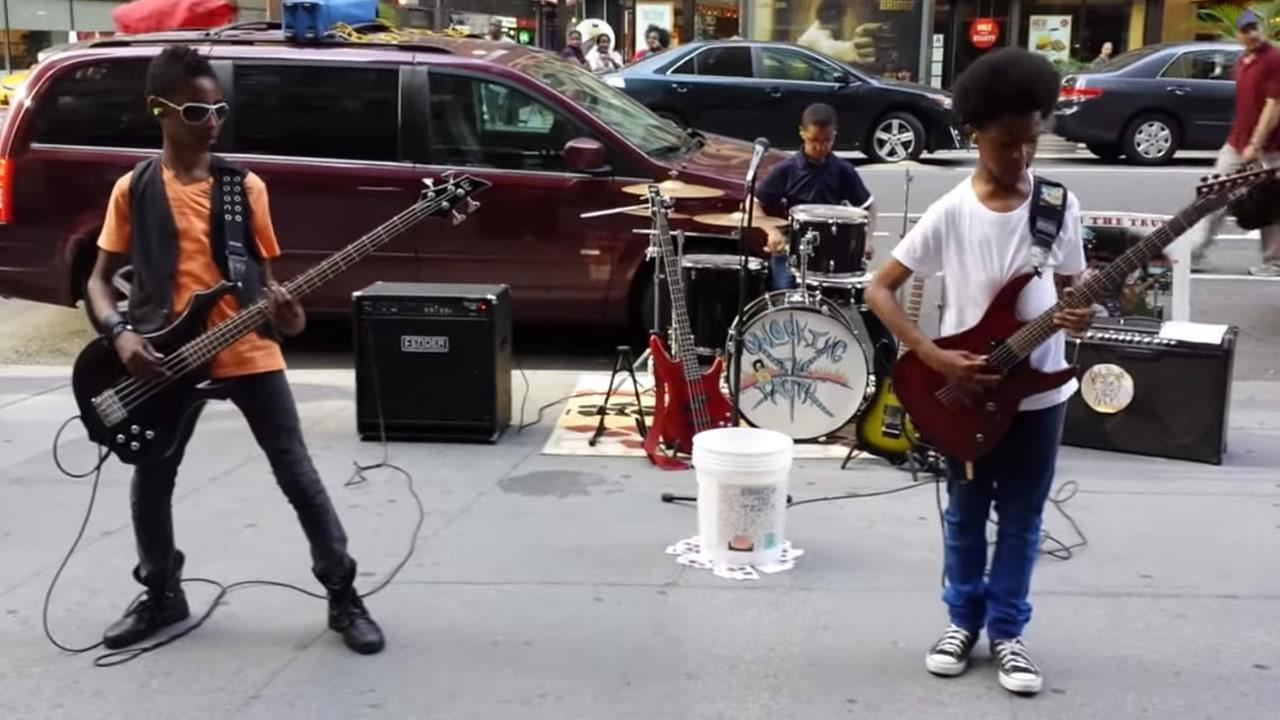 Teen metal band Unlocking the Truth.