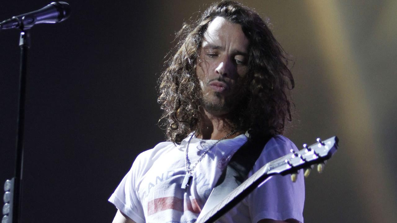 In this Sunday, Aug. 8, 2010, file photo, musician Chris Cornell of Soundgarden performs during the Lollapalooza music festival in Grant Park in Chicago.