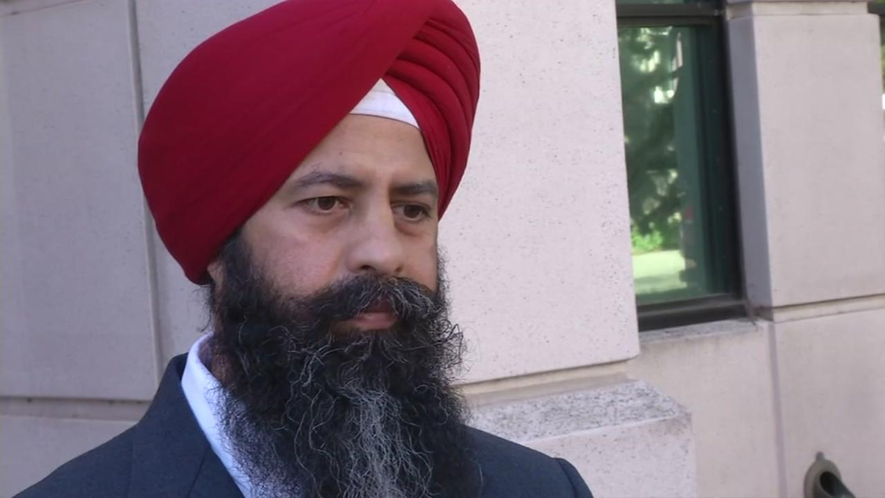 Maan Singh Khalsa speaks to ABC7 News on Thursday, May 18, 2017.
