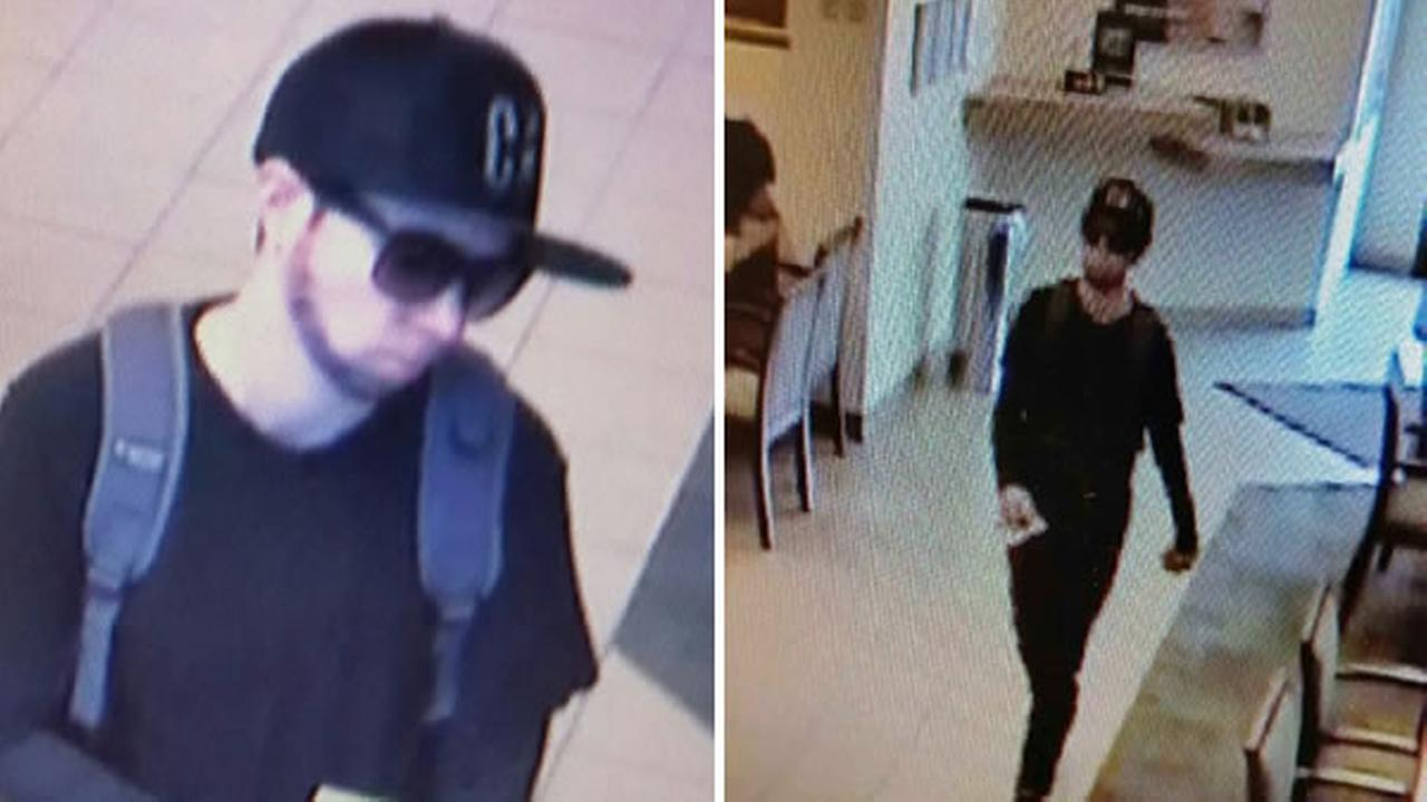 Police provided these images of a suspect in a bank robbery in Danville, Calif. on Tuesday, May 23, 2017.