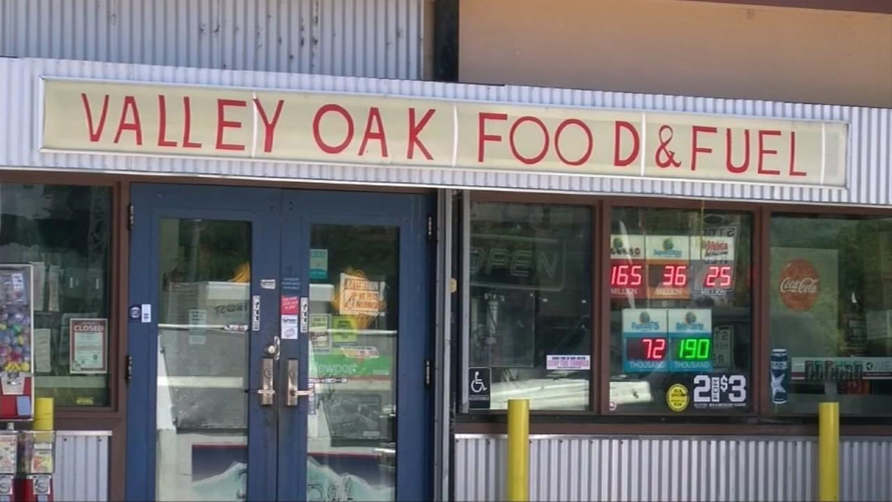 This undated image shows the Valley Oak Food and Fuel gas station in Walnut Grove, Calif.
