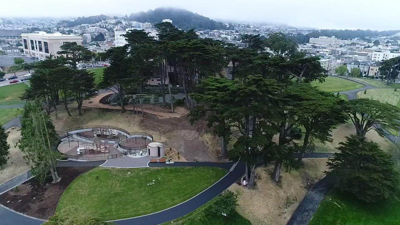 ABC7 News got special permission to fly DroneView7 over Alamo Square Park in San Francisco on Wednesday, May 24, 2017.