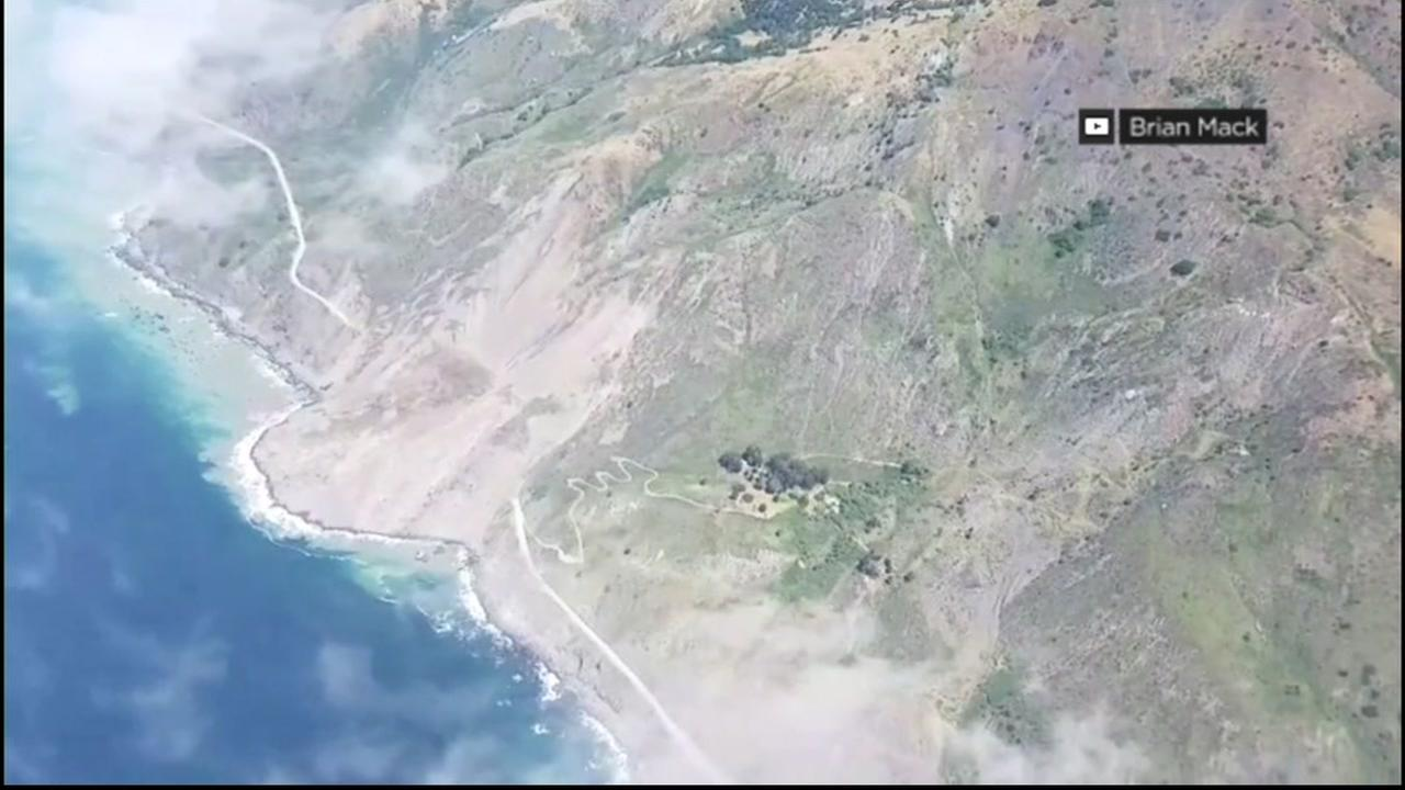 FILE -- Landslide in Big Sur, California.